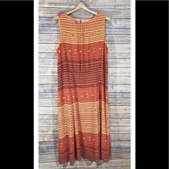 Pendleton Dresses Plus Size 18 Maxi Dress Burnt Orange Nwt Poshmark